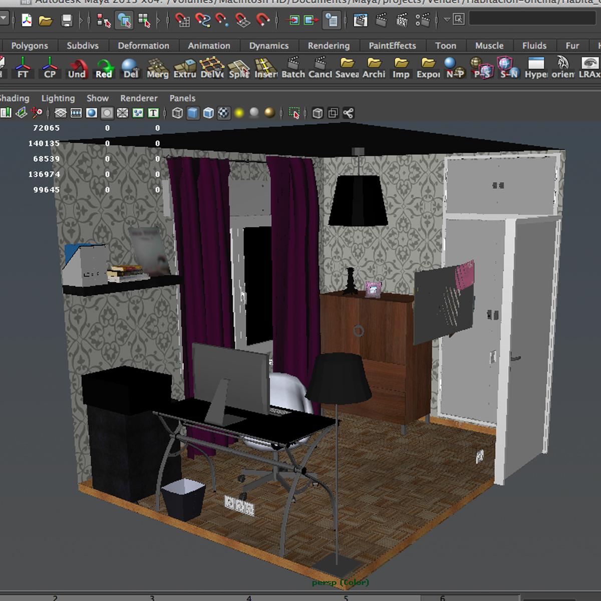 biroja telpa 3d modelis 3ds max fbx c4d ma mb obj 159582
