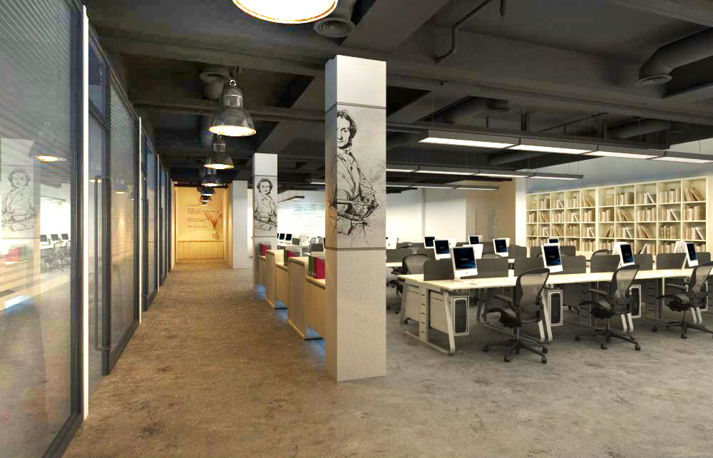 office spaces 001 3d model 124795