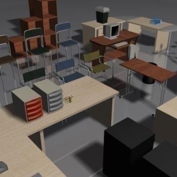 Office Furniture Set Volume 1 3d Model 3ds Max 78829