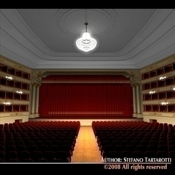 old theatre 3d model 3ds dxf c4d obj 90959