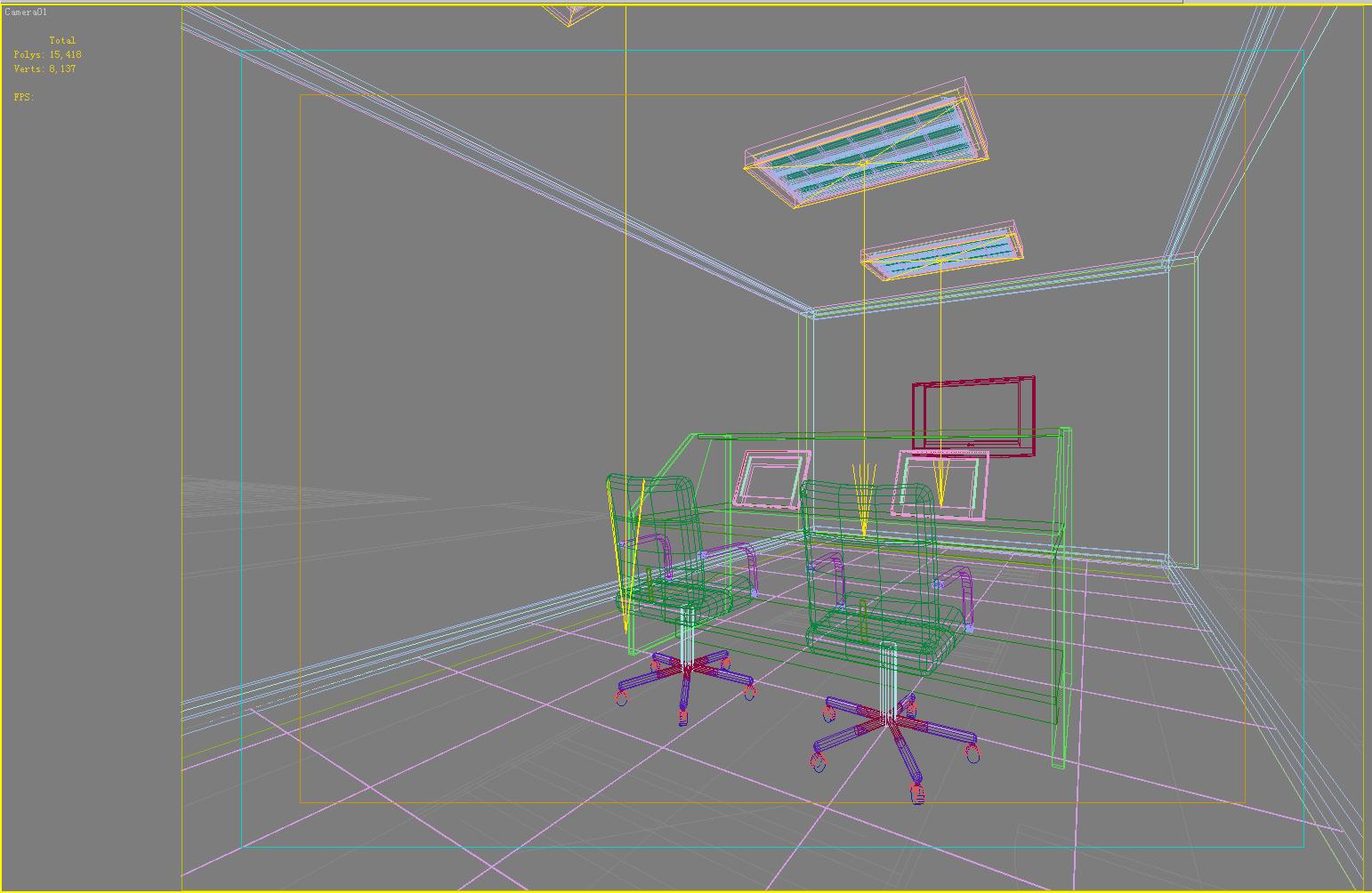 operating room & control room 001 3d model max 137481