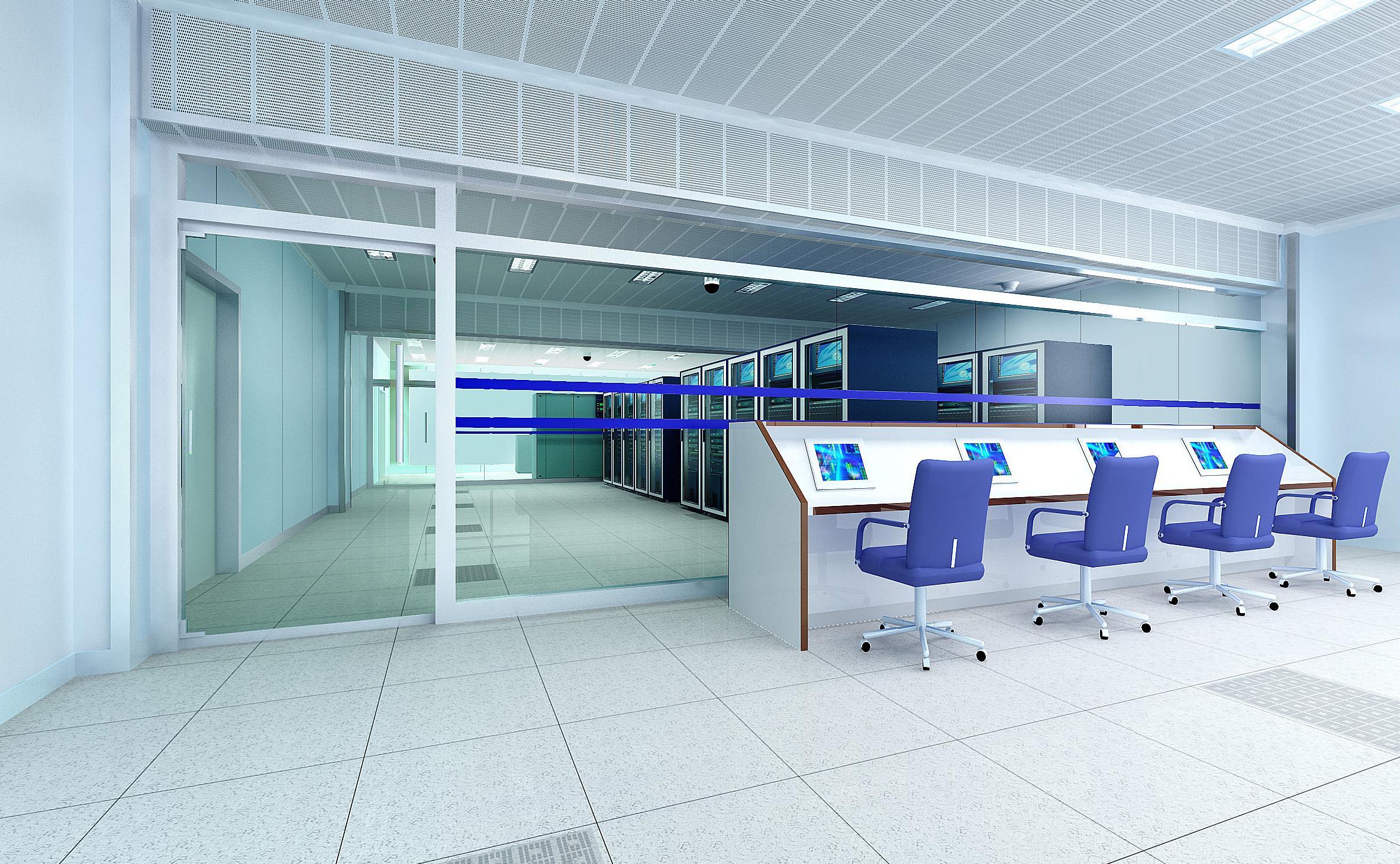 ажлын өрөө & хяналтын өрөө 009 3d загвар max 137496