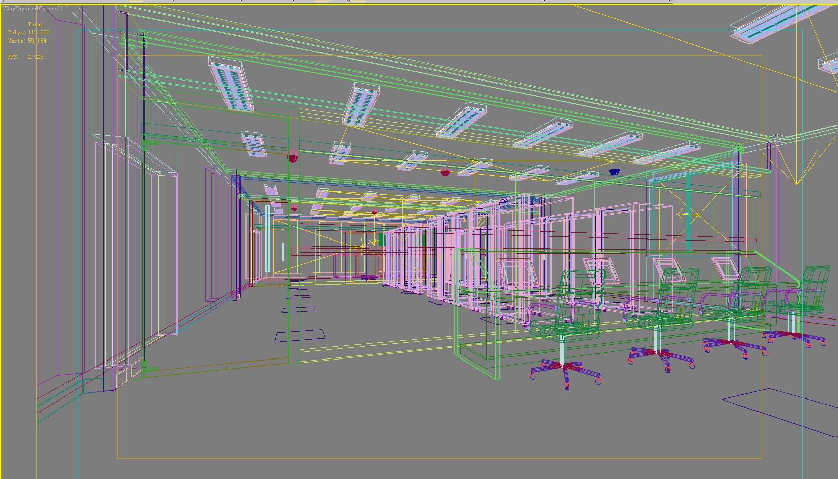 operating room & control room 009 3d model max 137497