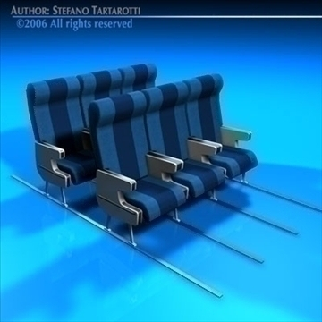 planetrain seats 3d model 3ds dxf c4d obj 81150