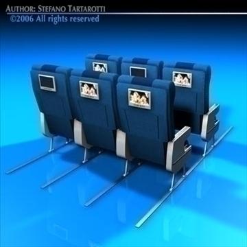 planetrain seats 3d model 3ds dxf c4d obj 81153