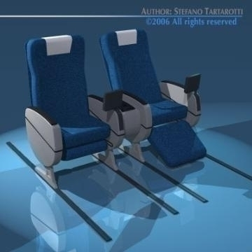 planetrain sedadlá business class 3d model 3ds dxf obj 77611