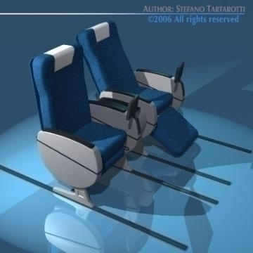 planetrain seats business class 3d model 3ds dxf obj 77612