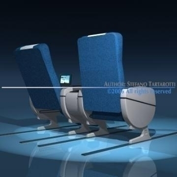 planetrain seats business class 3d model 3ds dxf obj 77613