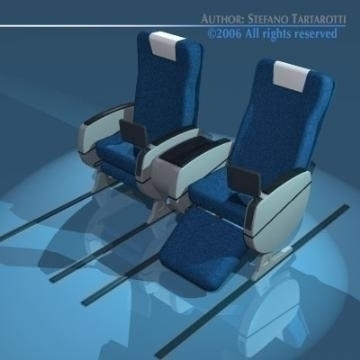 planetrain seats business class 3d model 3ds dxf obj 77614