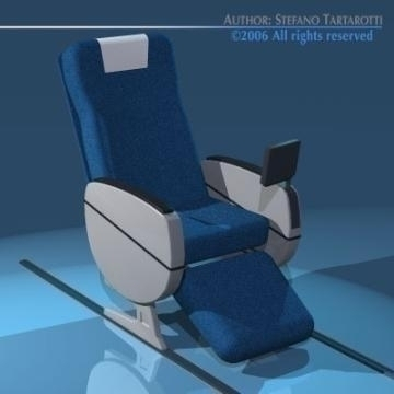 planetrain seats business class 3d model 3ds dxf obj 77616