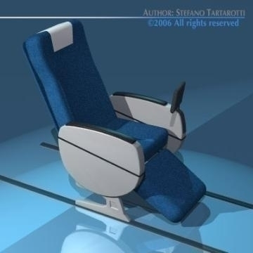 planetrain seats business class 3d model 3ds dxf obj 77617