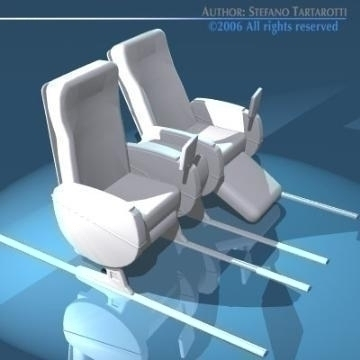 planetrain seats business class 3d model 3ds dxf obj 77618