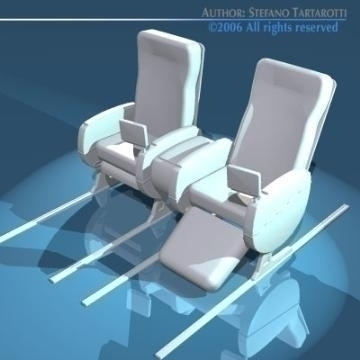 planetrain seats business class 3d model 3ds dxf obj 77620
