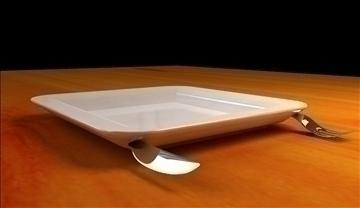 pot fork 3d model 3ds 106839