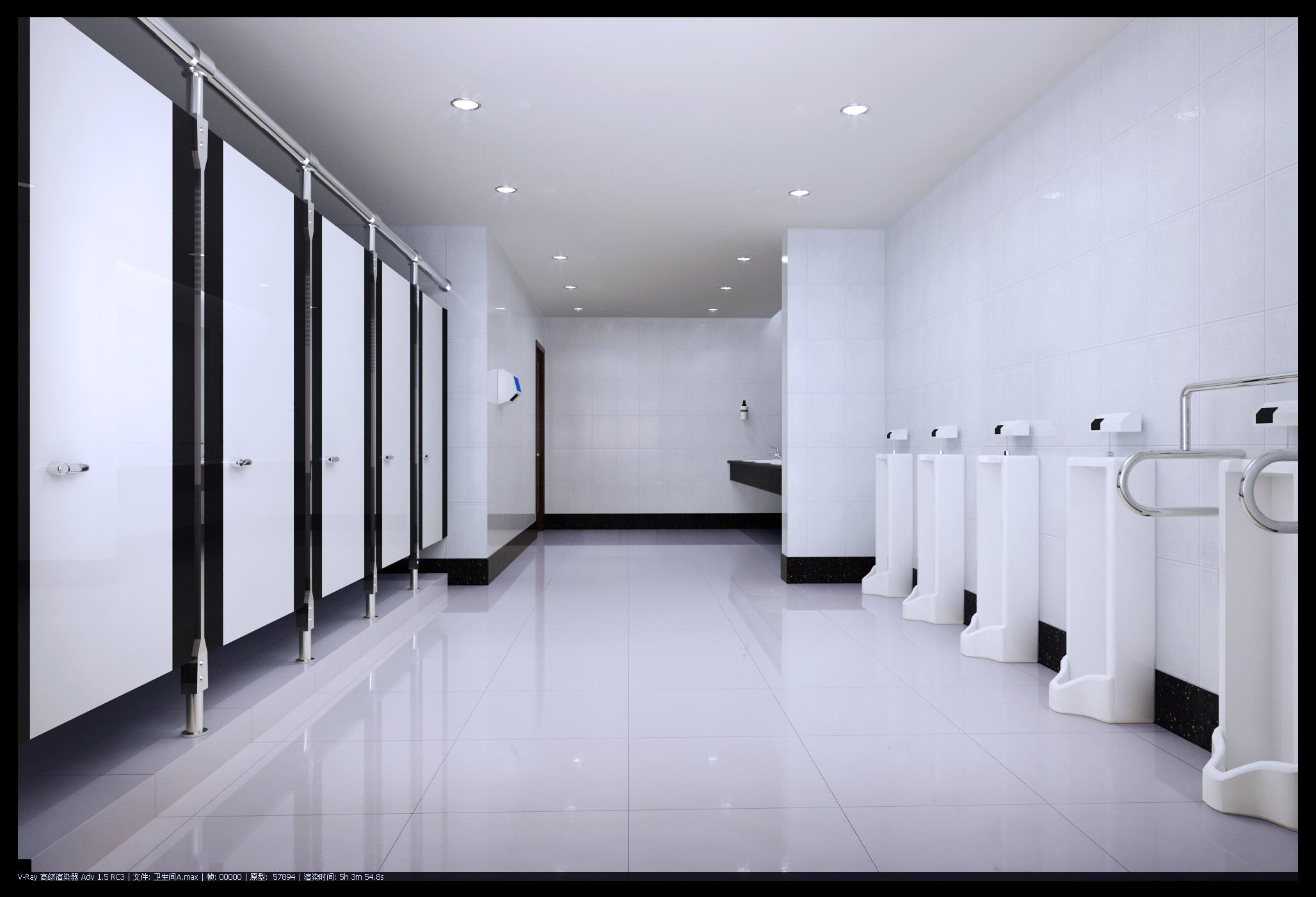 Exterior: Public Toilet 003 3D Model