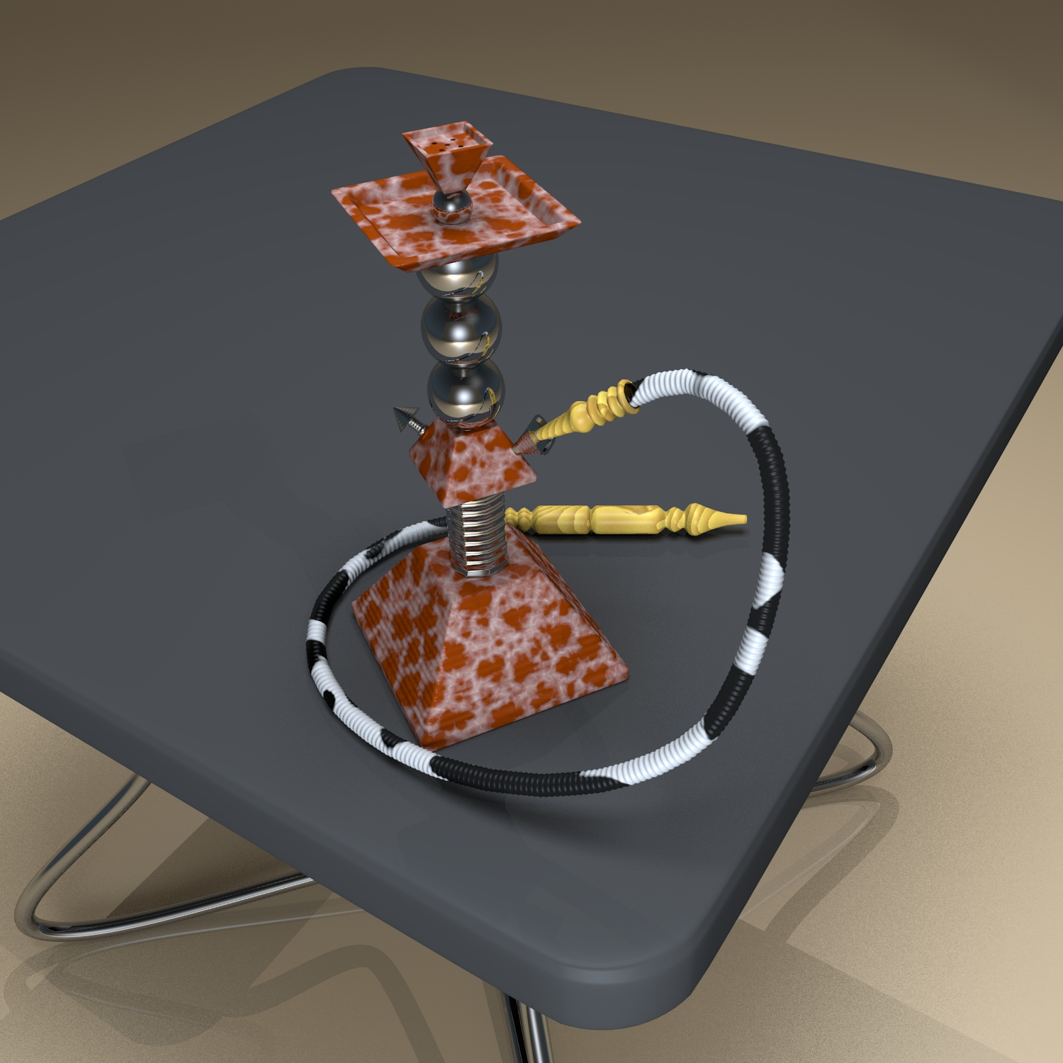 pyramid hookah 3d model blend obj 118923