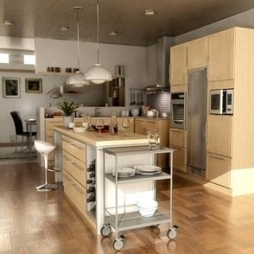 realistic extremely detailed kitchen 3d model 3ds max fbx obj 77206