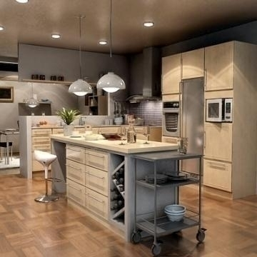 Realistic extremely detailed kitchen