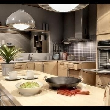 realistic extremely detailed kitchen 3d model 3ds max fbx obj 77210