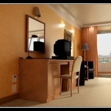 reāls ļoti detalizēts viesnīcas numurs 3d modelis 3ds max obj 77229