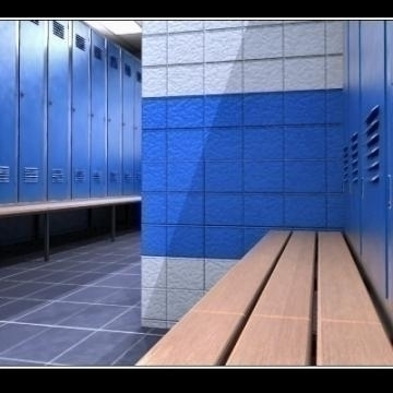 realistic highly detailed locker room. 3d model 3ds max obj 77243