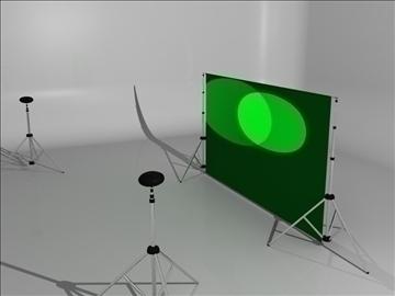 realistic studio stand 3d model 3ds max fbx obj 93576