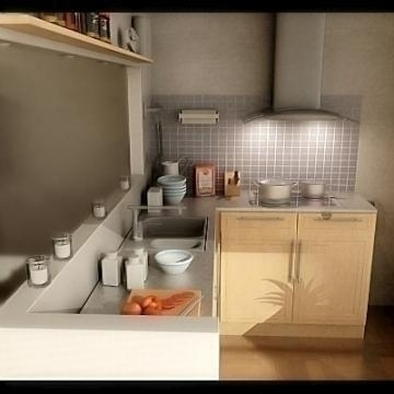Realistic extremely detailed kitchen ( 51.74KB jpg by mr._kim )