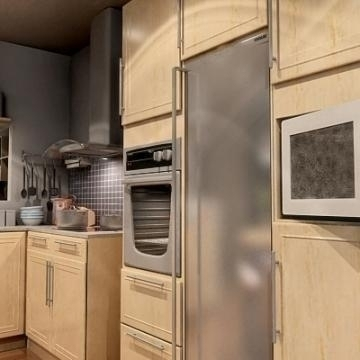 Realistic extremely detailed kitchen ( 56.79KB jpg by mr._kim )