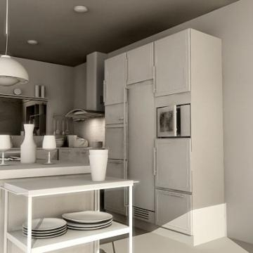 Realistic extremely detailed kitchen ( 44.05KB jpg by mr._kim )