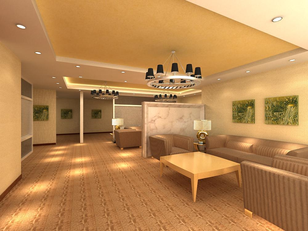 reception space 004 3d model max 145061