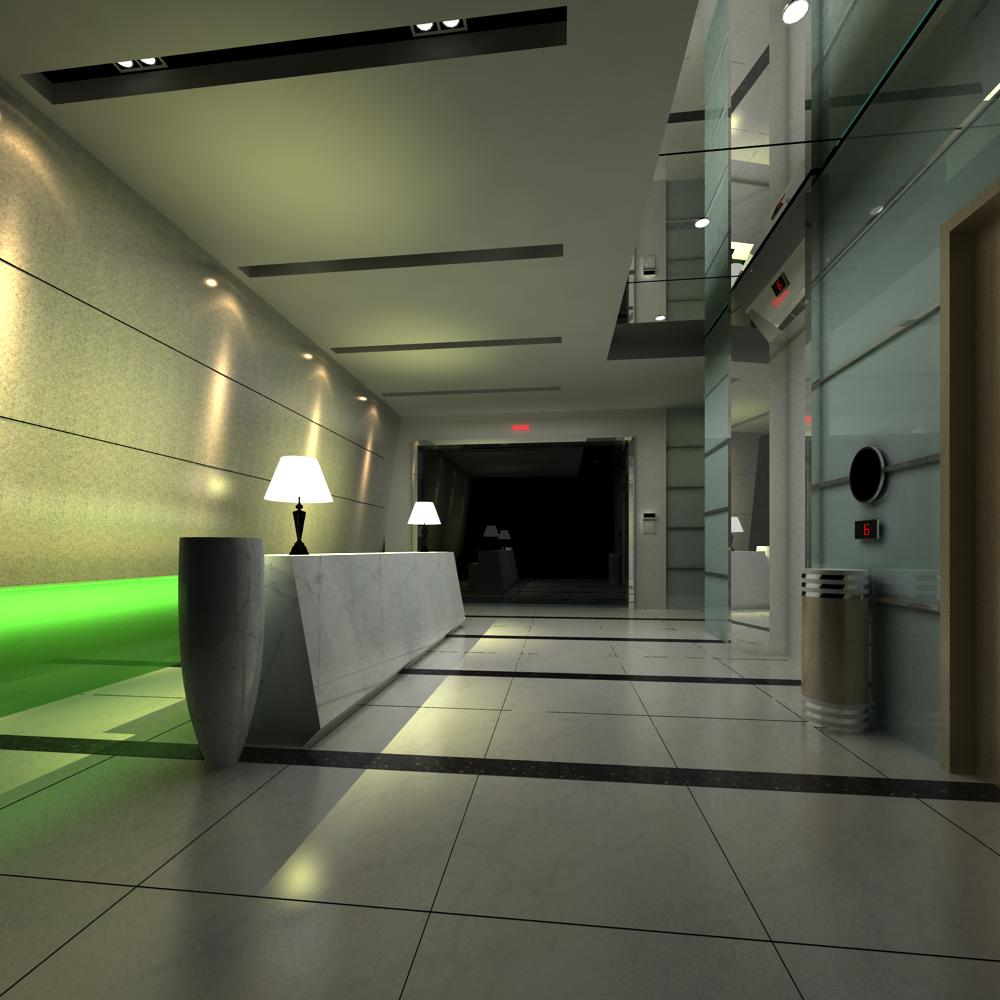 reception space 012 3d model max 145169