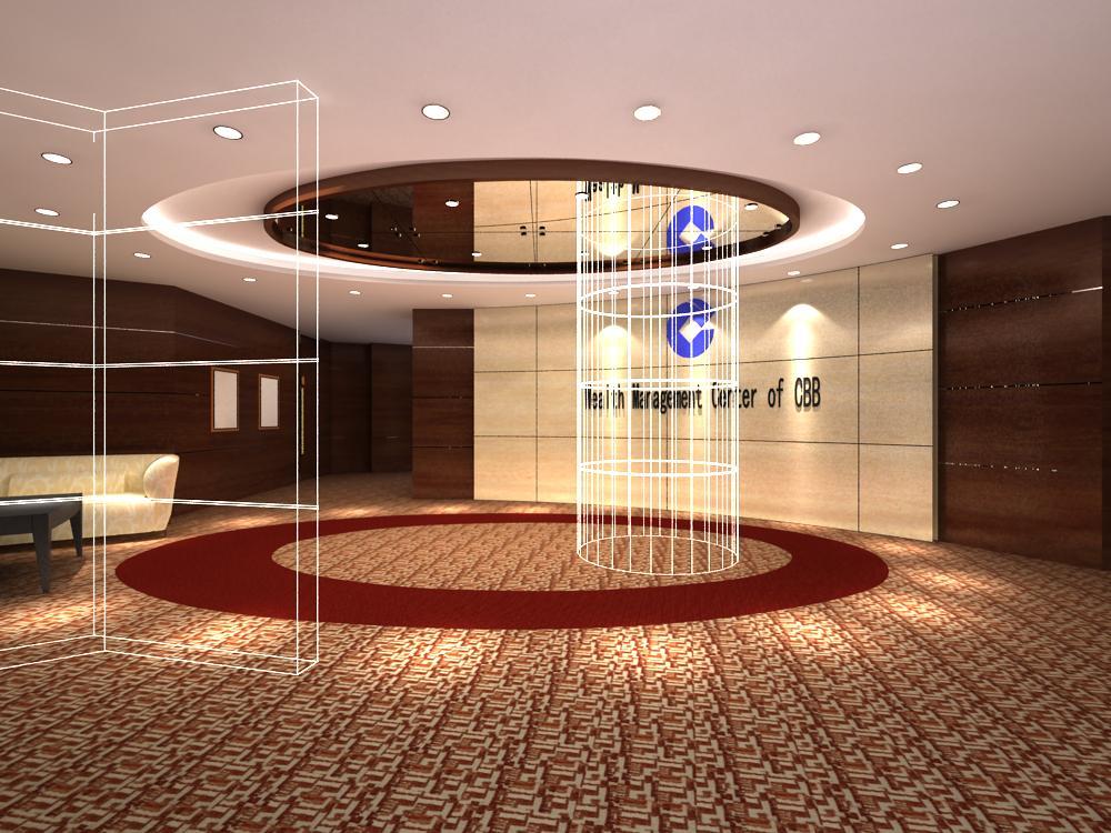 reception space 015 3d model max 145175