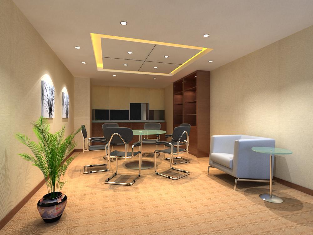reception space 017 3d model max 145179