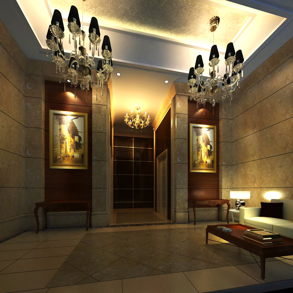 reception space 026 3d model max 145197