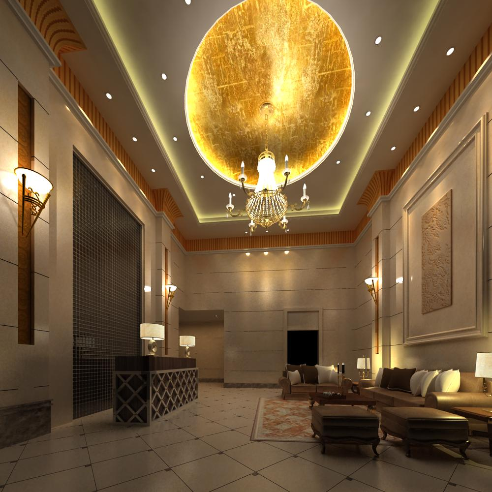 reception space 031 3d model max 145207