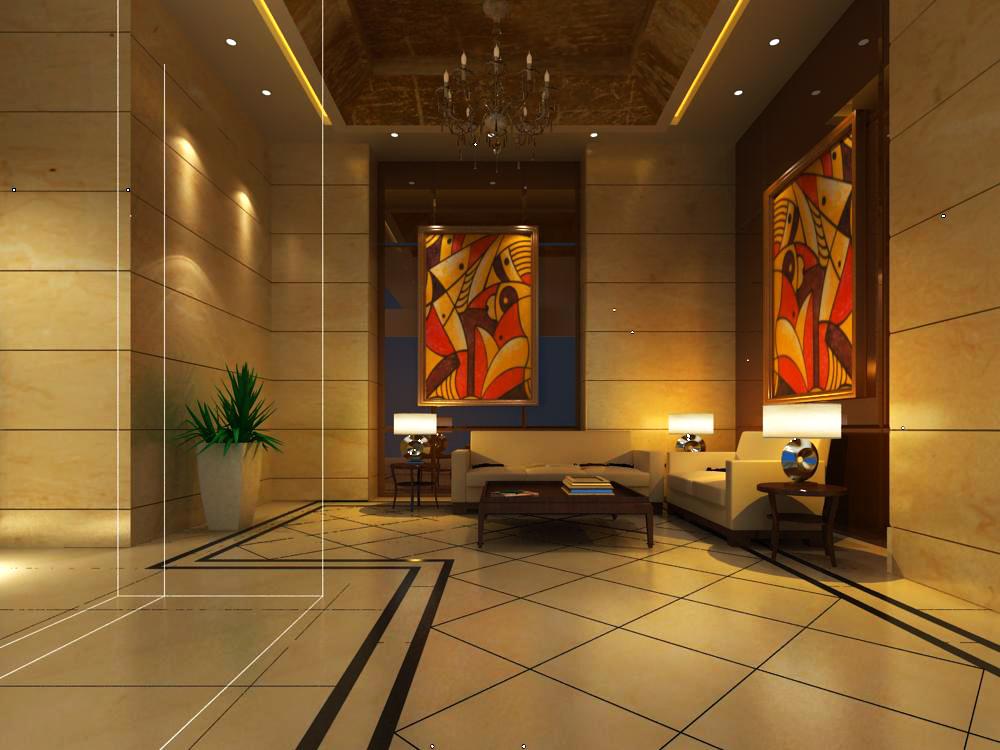 reception space 034 3d model max 145213