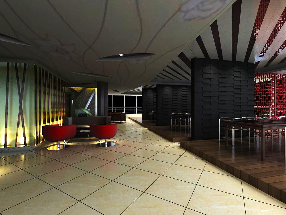 reception space 037 3d model max 145215