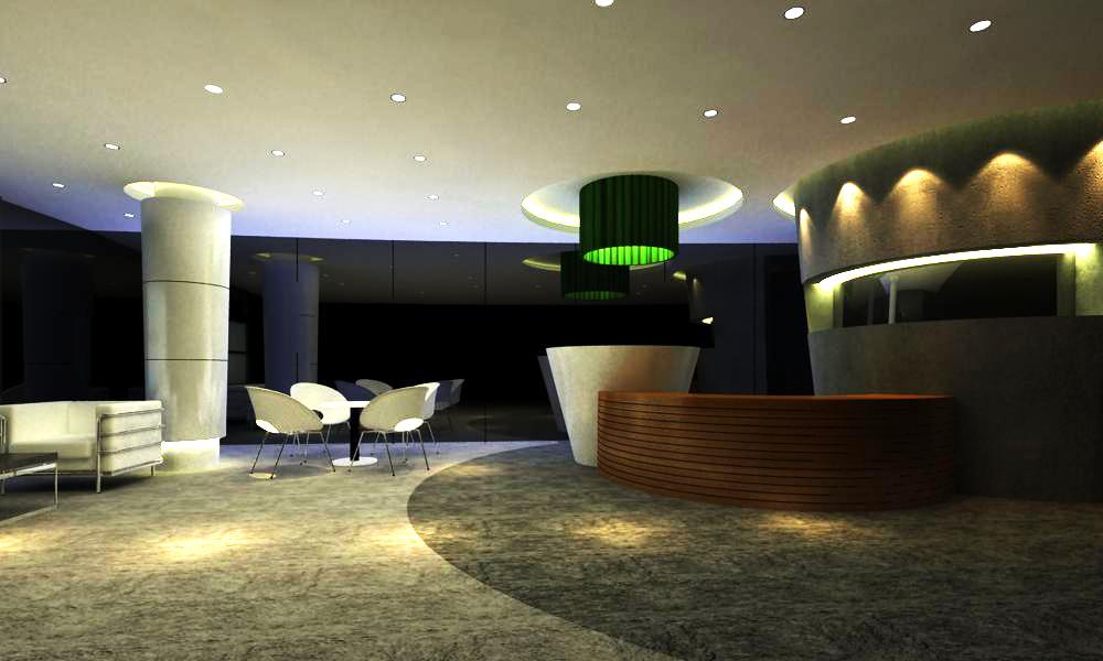 reception space 039 3d model max 145219