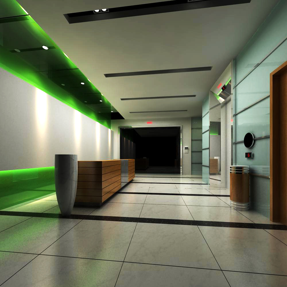 reception space 040 3d model max 145221