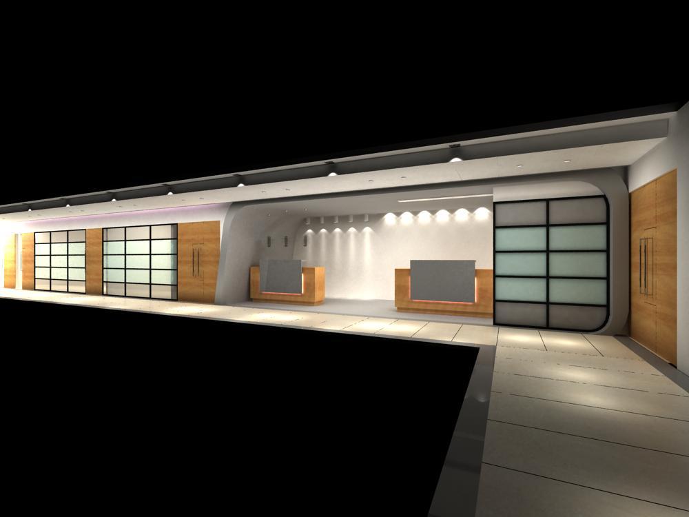 reception space 041 3d model max 145223