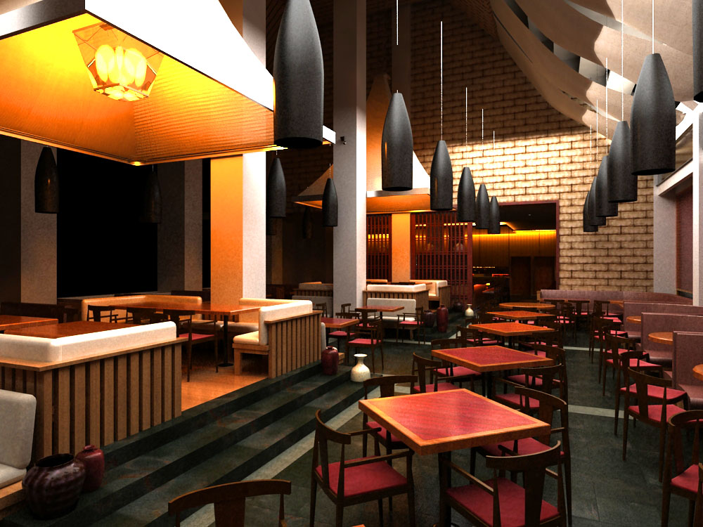 restaurant 0114 3d model max 137565