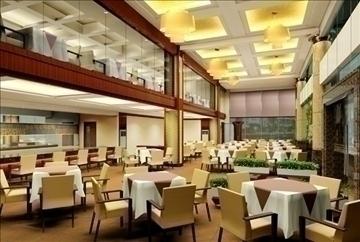 restaurant 013 3d model 3ds max 83075
