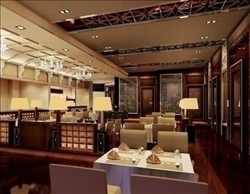 restaurant 014 3d model 3ds max 83077