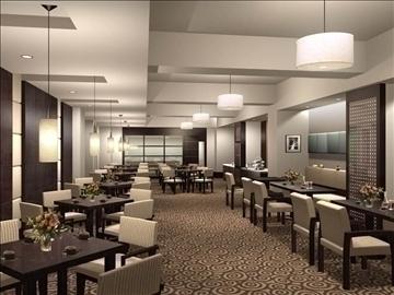 restaurant 021 3d model 3ds max 83089