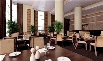 restaurant 030 3d model 3ds max 83107
