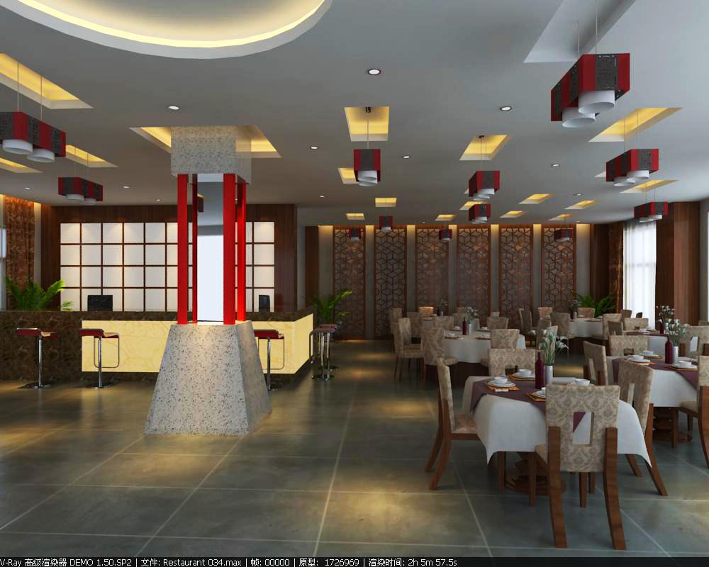 restaurant 034 3d model max 145359