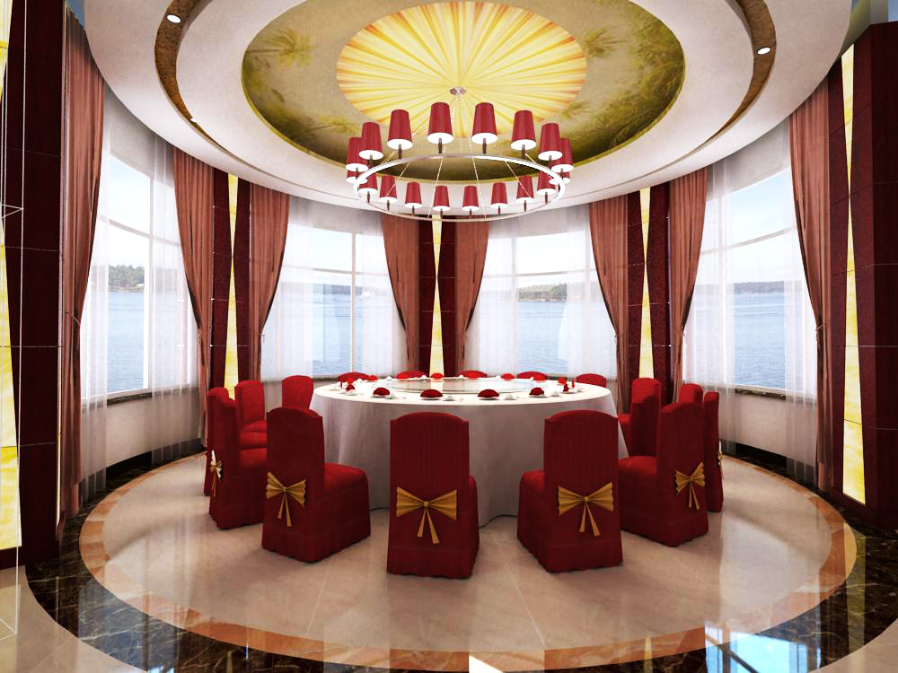 restaurant 036 3d model max 145363