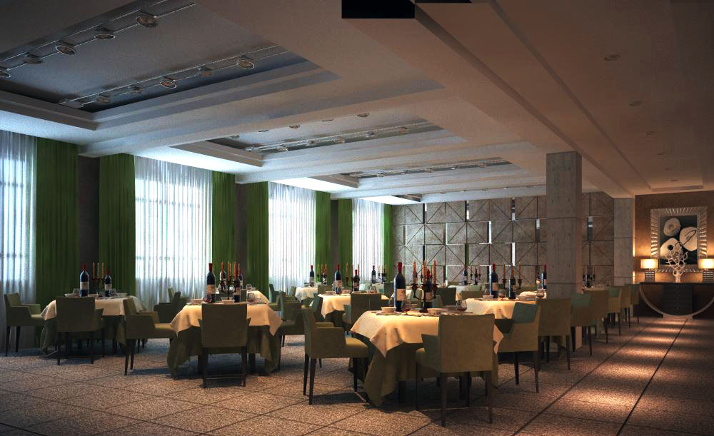 restaurant 036 two two 3d model max 137646