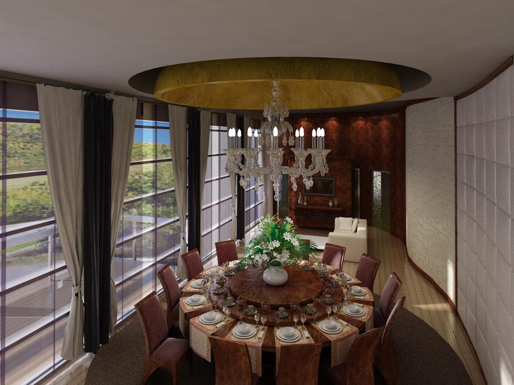 restaurant 040 three 3d model max 145372