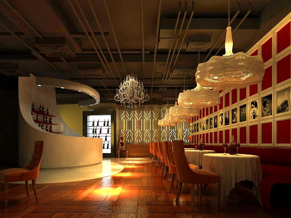 restaurant 042 3d model max 145376